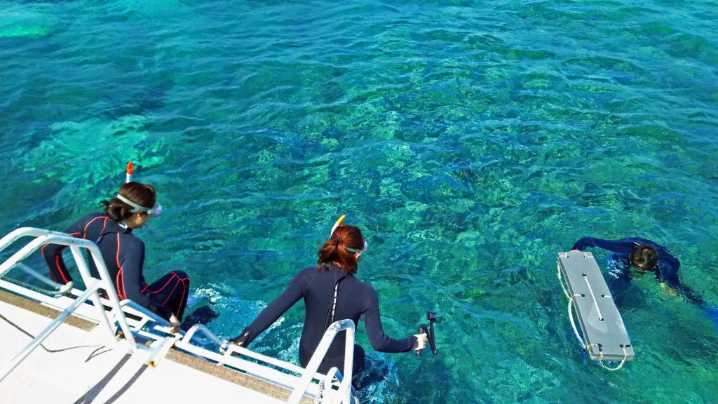 バラス島の海はきょうもきれい