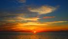 西表島 バラス島の夕日